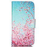 Maple Pattern PU Leather Phone Case For iPhone 5 / 5S