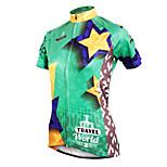 ilpaladinoSport Women Short Sleeve Cycling Jersey New Style Distinctive  DX587 Star Travel 100% Polyester