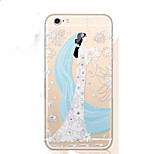 Wedding Girl Diamond Bling Design Pattern TPU Cover for iPhone 5/iPhone 5S