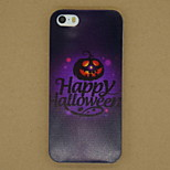 Happy Halloween Pattern Ultrathin TPU Soft Back Cover Case for iPhone 5/5S