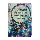 Cartoon Without Dream We Are Have Nothing Pattern TPU+PU Flip Shell Phone Case For Ipad Mini