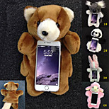 Warm Plush Gloves and TPU Protection Phone Case for iPhone 6/6S(Assorted color)