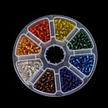 Beadia 1Box/135g Glass Seed Beads 4mm Round Mixed Colors With Silver Inner (aprx.1100pcs)