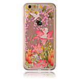 Christmas Flowers Flow Sand PC Material Cell Phone Case for iPhone 6/6S