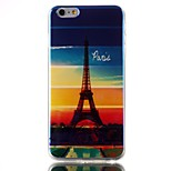 Paris Iron Tower Blue laser TPU Pattern Back Cover Mobile Phone Protection Shell for iPhone 6 Plus/6S Plus
