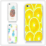 Pineapple and Lemon Pattern PC Phone Case Back Cover Case for iPhone6