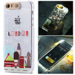 Lodon Eiffer Tower City Pattern LCD Sense Flash Light Back Cover Case for iPhone 5/5S