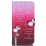 Finger Buckle White Dandelion Painted PU Phone Case for iphone 6/6S