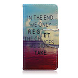 We Don't Take Pattern PU Leather Full Body Cover with Stand for Sony Xperia Z5 Compact