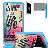 LEXY® Love Life Pattern Soft TPU Back Case with Screen Protector and Stylus for iPhone 6/6S
