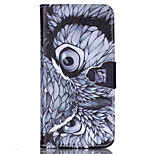 Owl  Pattern PU Leather Phone Case For iPhone 6 /6S