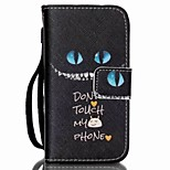 Cat Eye Painted PU Phone Case for iphone4/4S