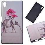 Pink Flower Elephant Pattern PC Hard Cover Case for Sony Z5