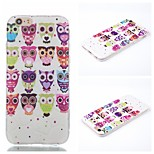 Multi Colored Owl Pattern Phone Shell Thin TPU Material for iPhone 6/6S