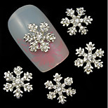 3pcs Christmas Snowflake 3D Rhinestones Alloy Nail Art Decoration