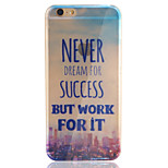 Letter TPU+Acrylic Anti-Scratch Backplane Combo Phone Case for iPhone 6 Plus/6S Plus