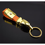 Men's High-grade Metal Leather Key Chain Car Key Ring