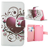 Love Pattern Card Stand Leather Case for iPhone 6/6S