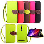 Leather Card Holder Stand Magnetic Phone Flip Cases Shell Leaf Wallet + Lanyard Cover For Asus Zenfone 2/Zenfone 5