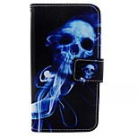 Blue Skull Painted PU Phone Case for Huawei Honor 7