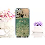Painting 04 Pattern TPU Blue Ray Semi Transparent Back Case For iPhone6/6s