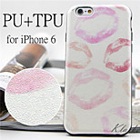 Romantic Lip Prints Pattern High Quality PU Leather and TPU Back Case for iPhone 6/iPhone 6S