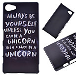 Cool Words Pattern PC Hard Cover Case for Sony Xperia Z5 Compact