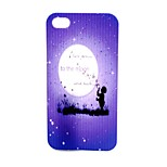 Purple Sky  Pattern TPU Soft Case for iPhone4/4S