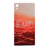 Happy Evening Pattern Transparent TPU Soft Case for Sony Z5