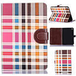 Grid Pattern Full Body Tablet Protection Case with Stand and Card Slot for iPad Mini 3/2/1