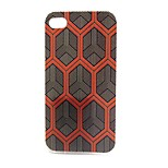 Hexagon Snakeskin Pattern Pattern TPU Soft Case for iPhone4/4S