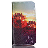 Here Come the Sun Pattern PU Leather Full Body Cover with Stand for Sony Xperia Z3 Compact