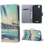 Anchor and Trees Wallet Leather Stand Case for Acer Liquid Z630 Z630s (5.5 inch)