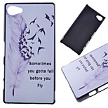 Flying Feather Pattern PC Hard Cover Case for Sony Xperia Z5 Compact