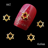 10pcs Golden Color Star 3D Alloy Nail Art Alloy Nail Decoration Glitter Jewelry Nail Art Decorations 6*6mm