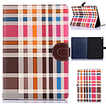 Grid Pattern PU Leather Full Body Tablet Protection Case with Stand and Card Slot for iPad Air 2