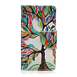Color Tree Pattern PU Leather Full Body Cover with Stand for Sony Xperia Z5 Compact