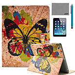 LEXY® Splash-ink Butterfly Pattern PU Leather Flip Stand Case with Screen Protector and Stylus for iPad Air/iPad 5