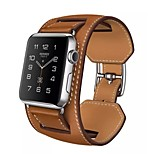 Luxury Genuine Leather watch Band strap Bracelet Replacement Wrist Band With Adapter Clasp For Apple Watch 42mm/38mm