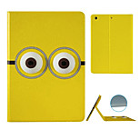 Banana Person  Pattern Stereo Eye Stent Case for iPad Air