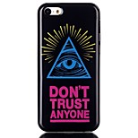 Triangle eye Pattern TPU Phone Case for iPhone 5C