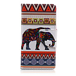 Blog del Patrón de elefante de la PU cuero de la cubierta de cuerpo completo con soporte para Sony Xperia z5 compacta