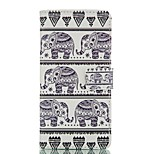 Baby Elephant Pattern Card Stand Leather Case for Huawei P8/P8Lite