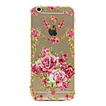 Peony Pattern TPU Soft Phone Case for iPhone 6/6S