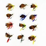 12 pcs Fliegen / Angelköder Fliegen Phantom / Verschiedene Farben 1g g/1/18 Unze,20 mm/1
