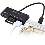 conector micro USB adaptador HDTV com função de leitor de cartão otg
