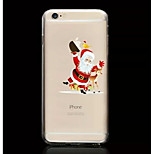 Santa Claus Pattern TPU Soft Phone Case for iPhone 6/6S