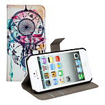 Feather Dream Bell Pattern PU Leather Flip Case with Magnetic Snap and Card Slot for iPhone 5/5S
