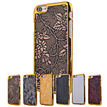 Metal Frame Relief Printing PC Material Mobile Cell Phone Case for iPhone 6/6S (Assorted Colors)