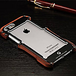 Mahogany and Alloy Metal Armor 2in1 Material Lanyard Cell Phone Case for iphone 6/6S (Assorted Colors)